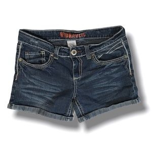 Hydraulic Denim Shorts, Jrs 11, Decorative pockets
